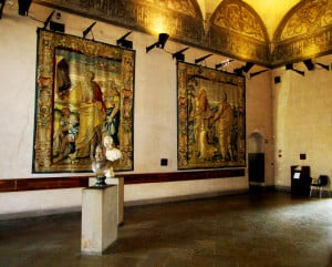 Tapestry in Sforza's castle