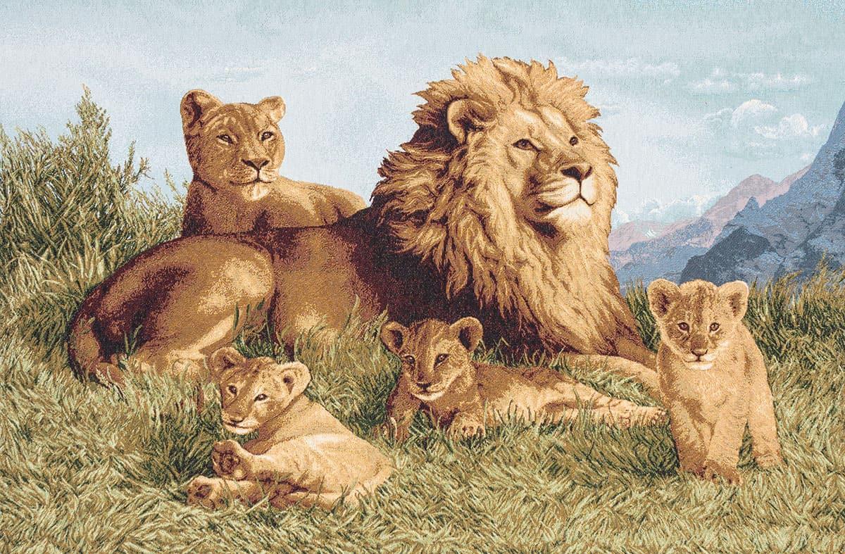 Vendita arazzo branco di leoni arazzi moderni for Arazzi moderni