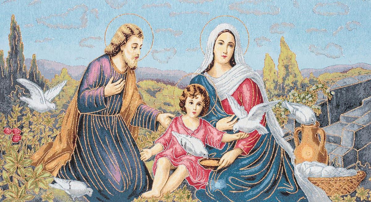 Vendita arazzo santa famiglia nazareth arazzi moderni for Arazzi moderni