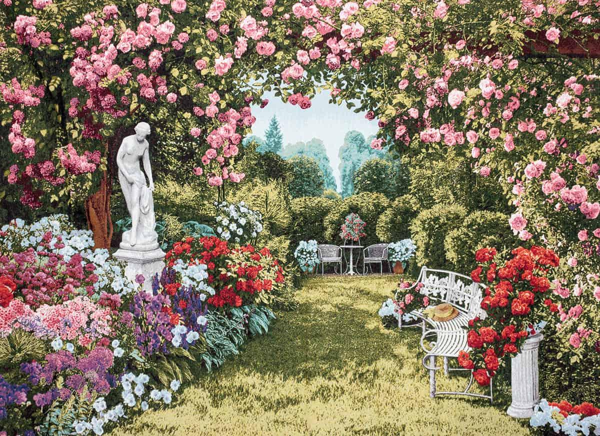 Vendita arazzo giardino floreale arazzi moderni for Arazzi moderni