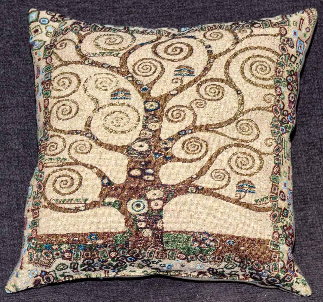 Vendita arazzo cuscino albero della vita gustav klimt for Arazzi moderni