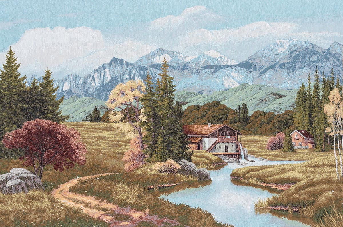 Alpine landscape Tapestry