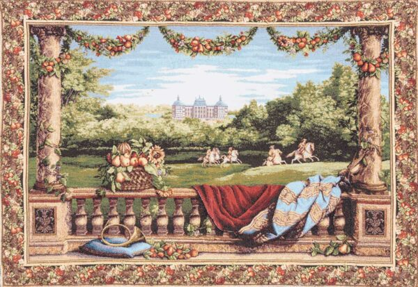 Balcony Tapestry with knights