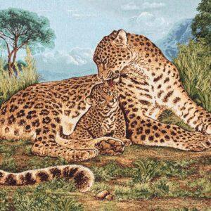 Arazzo Ghepardo con cucciolo