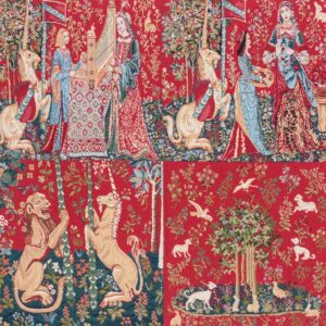 Medieval Tapestry Dama and unicorn – collage
