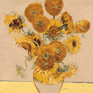 """Van Gogh's Famous Painting Representative Tapestry """"Sunflowers"""""""