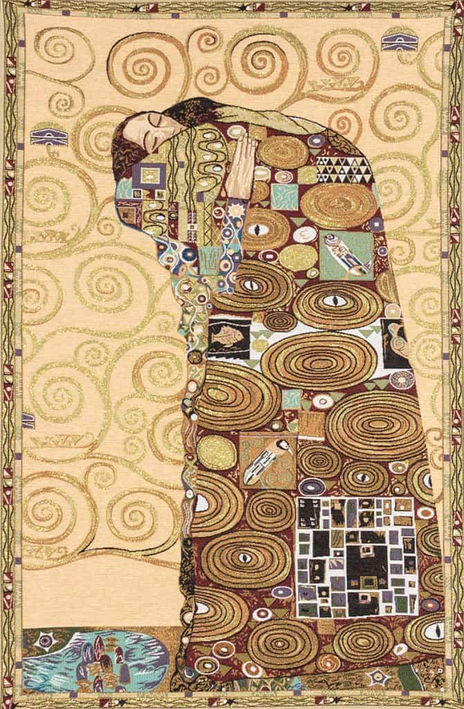 Abbraccio - Klimt - paticolare albero
