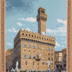 Old Florence palace tapestry