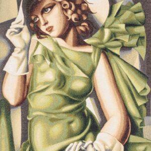 Tapestry Girl in green – Tamara De Lempicka