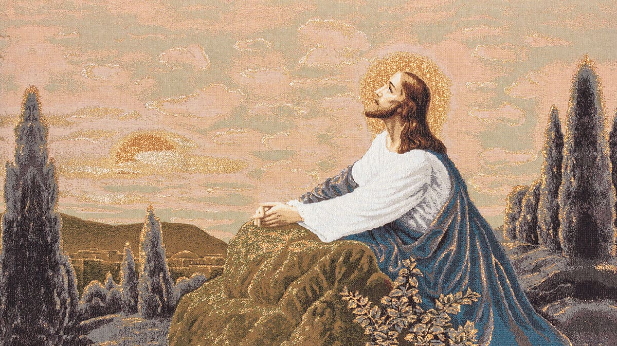 Tapestry Jesus Prays in the Garden of Olivesolive