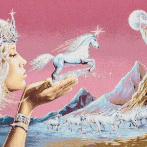Paesaggio con unicorni