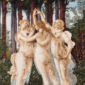 """Tre grazie """"insert"""" Primavera - Botticelli"""