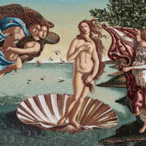 Tapestry depicting Venus rising from the waters – Botticelli