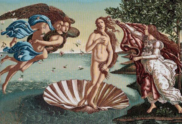 Tapestry depicting Venus rising from the waters - Botticelli