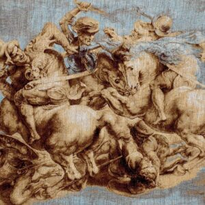 Tapestry Battle of Anghiari by Leonardo da Vinci
