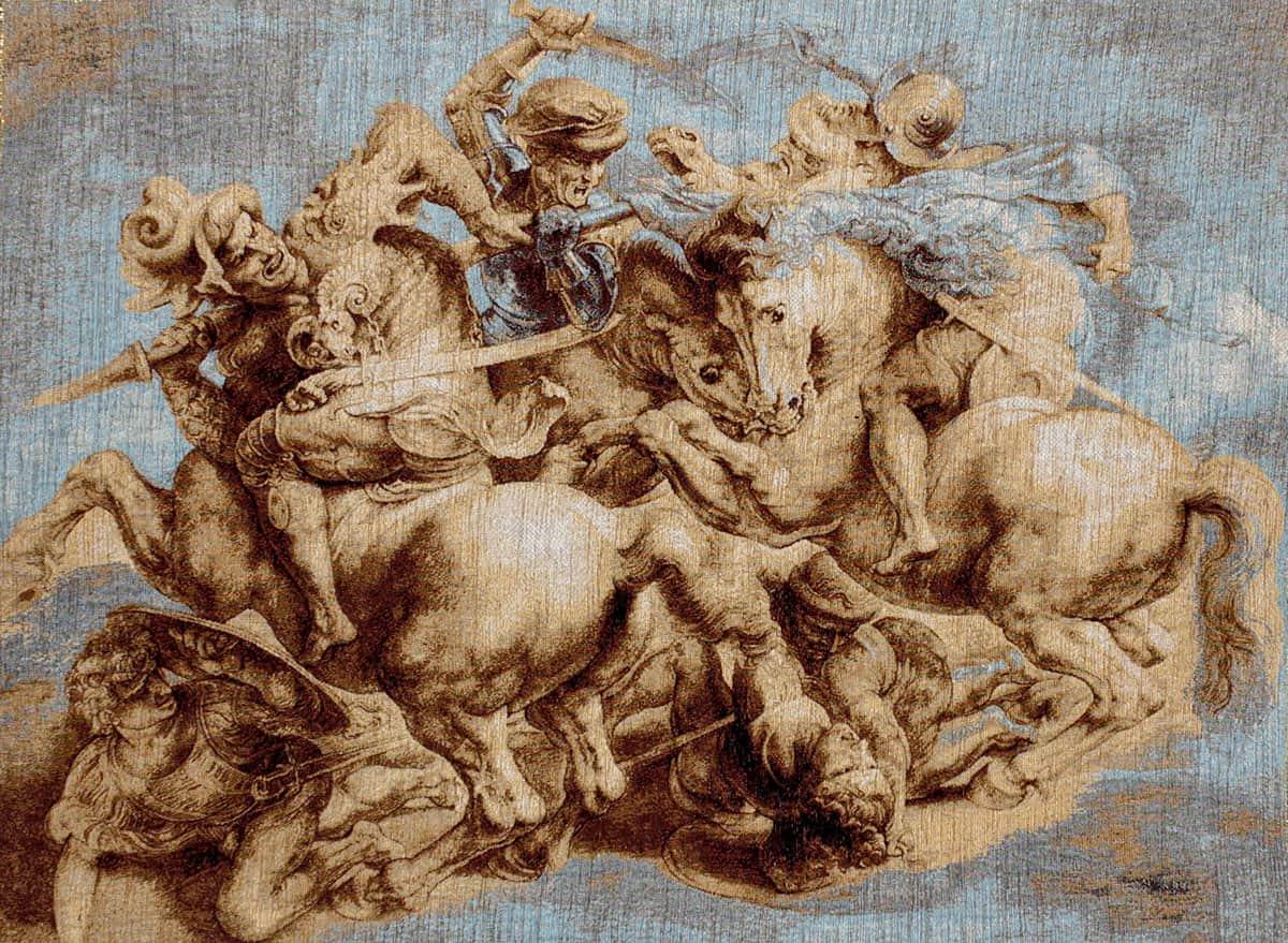 Tapestry Battle of Anghiari by Leonardo da Vinci