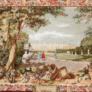 tapestry representing a scene of Versailles Palace