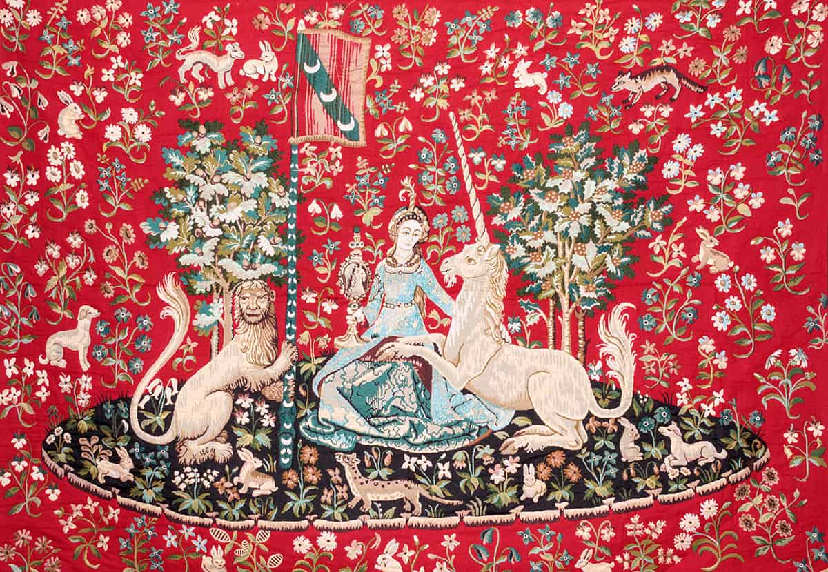 Tapestry Lady and Unicorn - Cluny