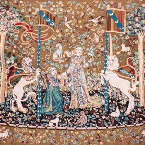 Arazzo Dama e Unicorno – Fondo beige