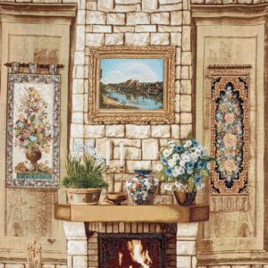 Tapestry Fireplace – furnished wall