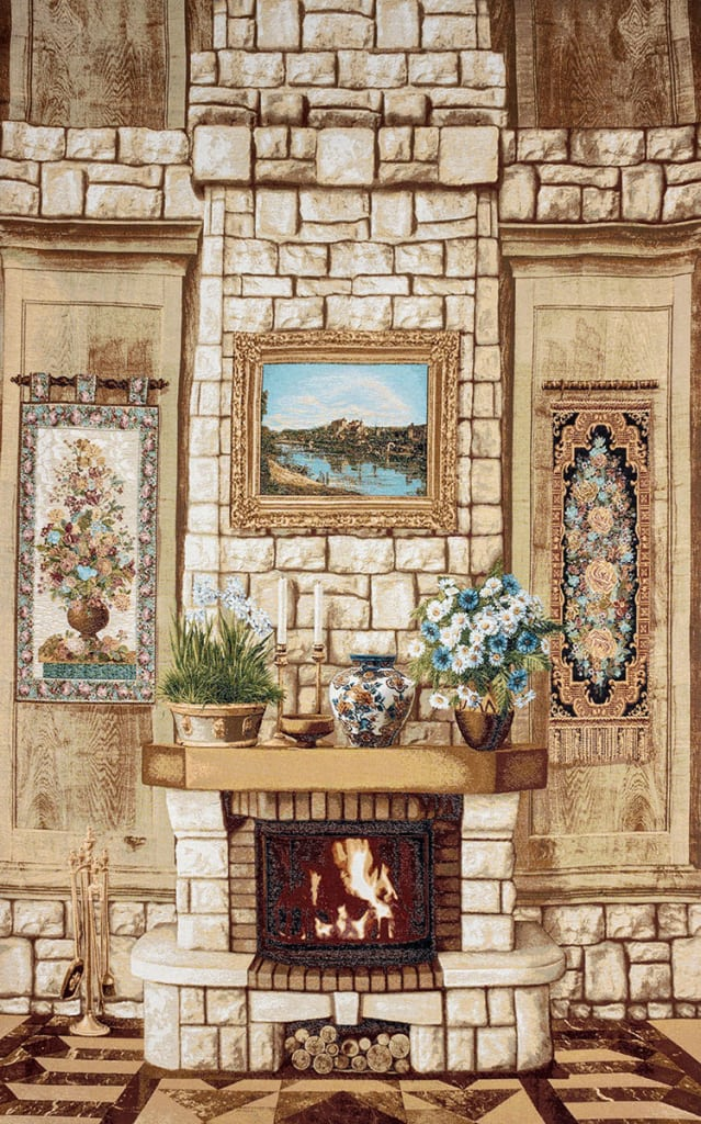 Tapestry Fireplace - furnished wall