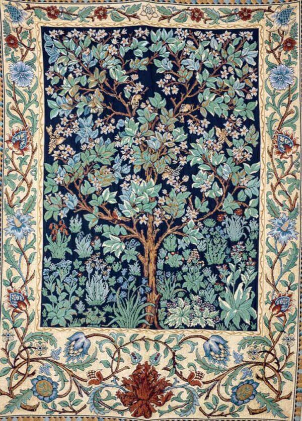 Albero della vita - William Morris fondo bordò