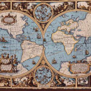 Arazzo carta geografica