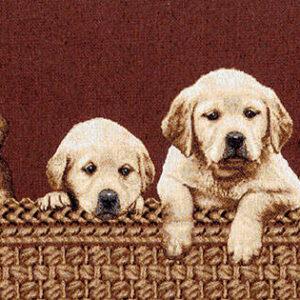 Arazzo Labrador cuccioli