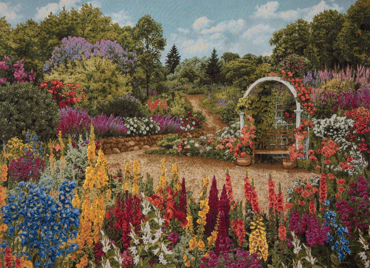 Tapestry Flowered garden