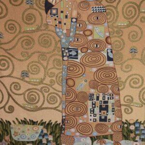 Arazzo Abbraccio di Klimt 140×190 cm
