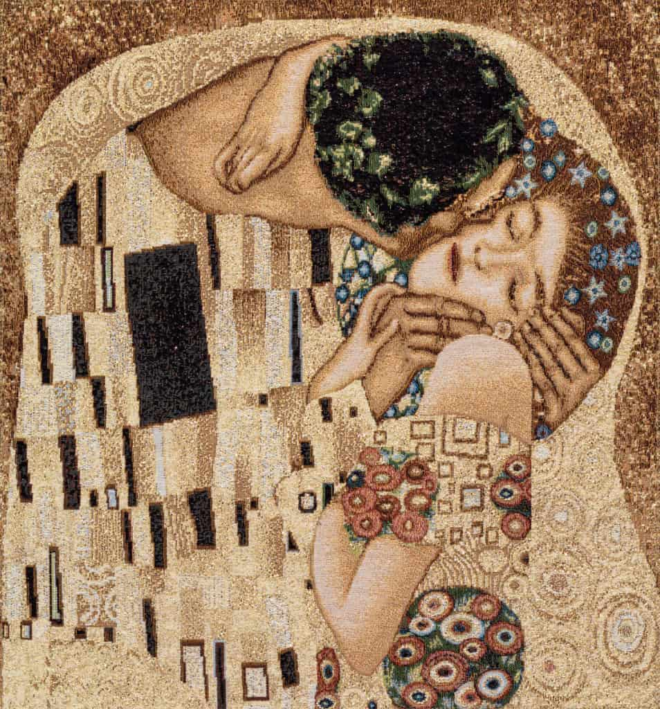 Tapestry The kiss - Gustav Klimt