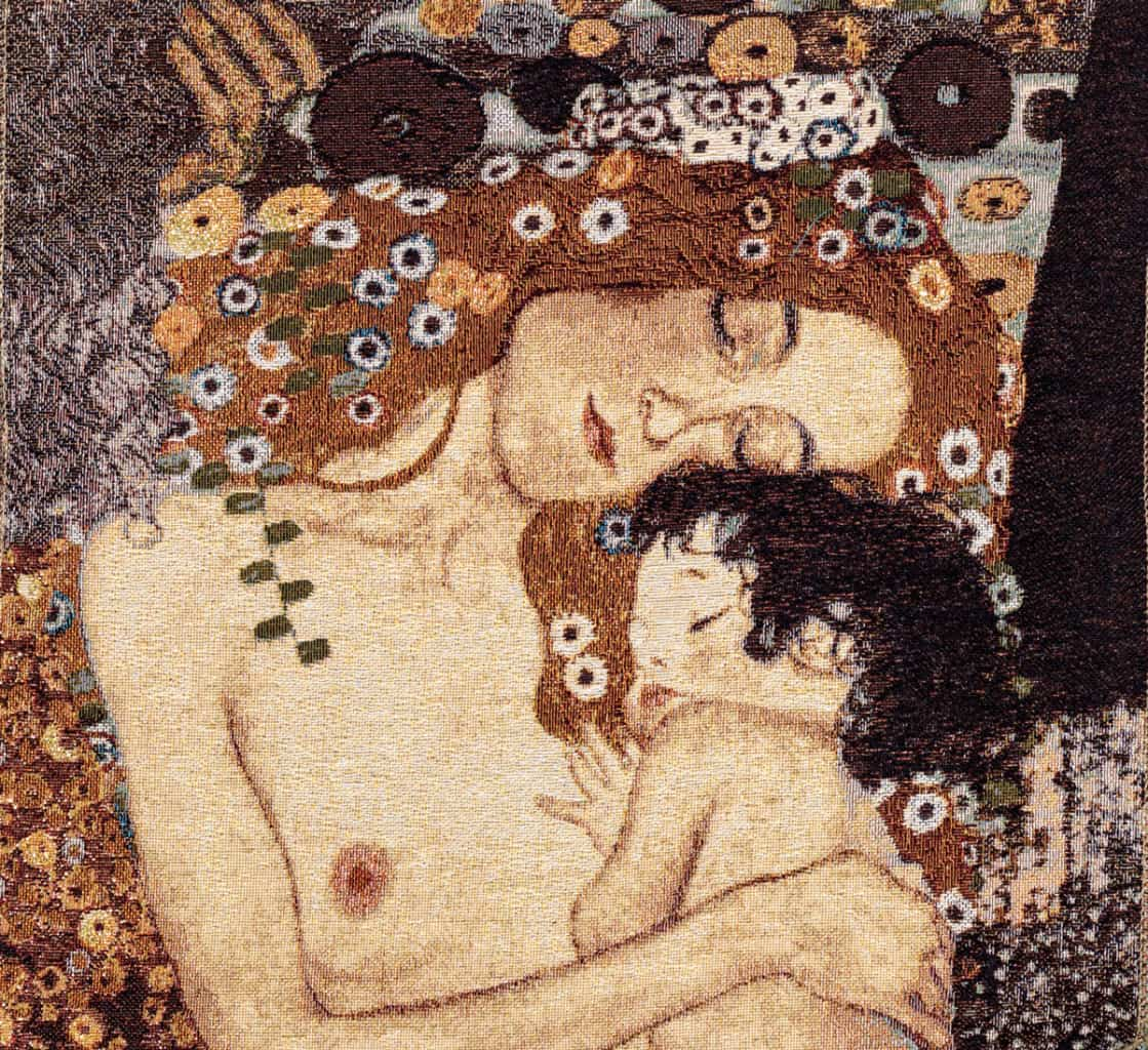 Tapestry The Three Ages of Woman - Gustav Klimt
