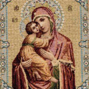 Arazzo Madonna icona con bambino