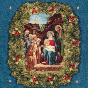 Nativity Tapestry blue background