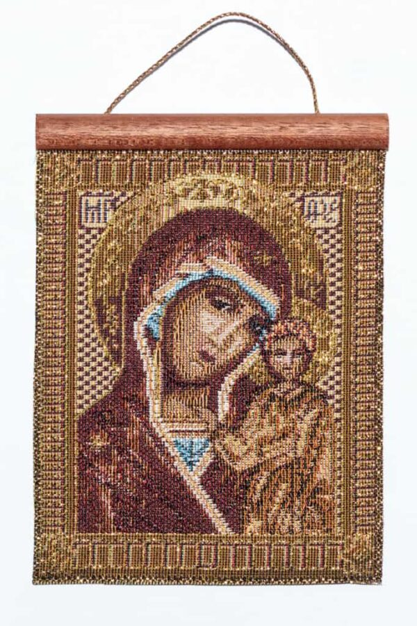 "Tapestry Madonna with child ""Icon"""