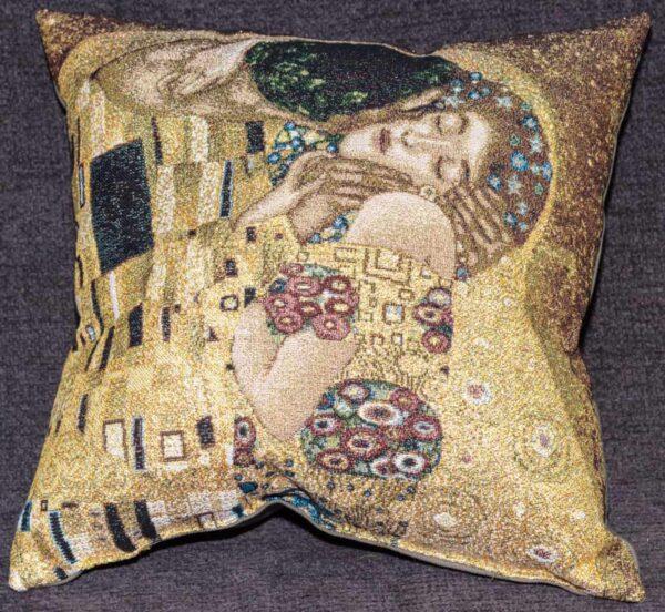 Cuscino Il Bacio, primo piano Gustav Klimt