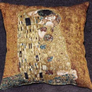 "Tapestry depicting ""The Kiss"" by Gustav Klimt (detail)"