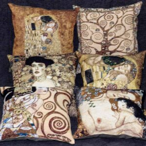Tapestry set pillows by Gustav Klimt