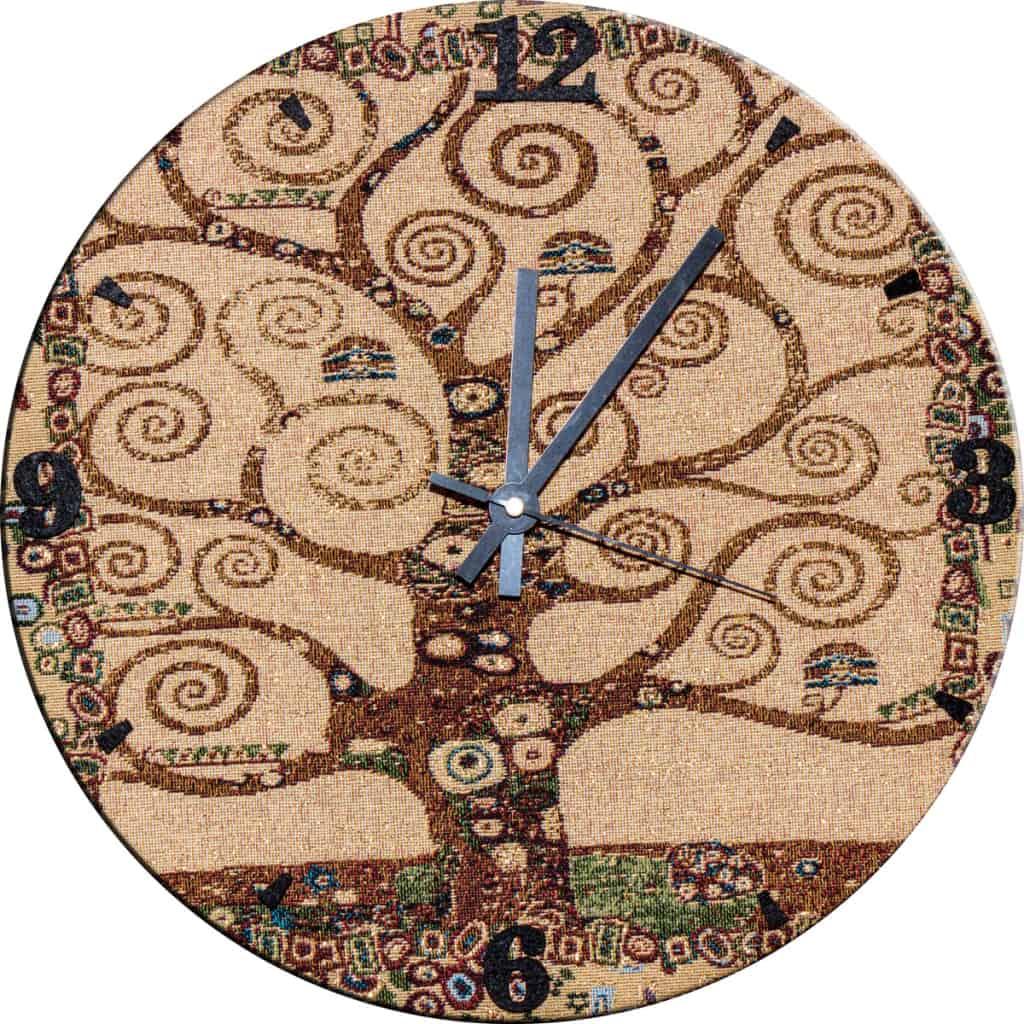 Arazzo orlogio da parete albero dea vita