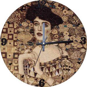 "Tapestry wall clock ""Adele"" by Gustav Klimt"