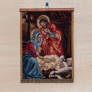 Tapestry nativity scene