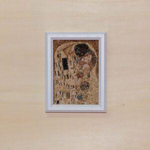 Arazzo Quadro Il Bacio di Klimt 18×22