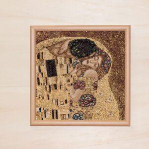 Arazzo Quadro Il Bacio di Klimt (Primo Piano)