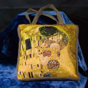 Arazzo Borsa Il bacio di Klimt (Primo piano)