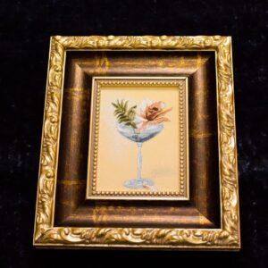 Arazzo Calice con Rosa 29×34 cm