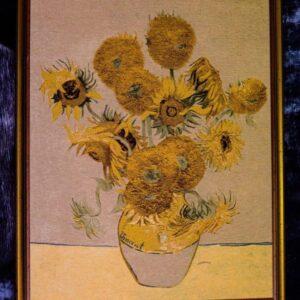 Arazzo Quadro I Girasoli di Van Gogh 96×77 cm