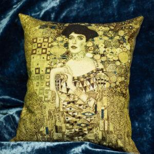 Arazzo cuscino Adele di Gustav Klimt