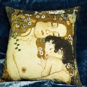 Arazzo cuscino  tre età della donna  klimt
